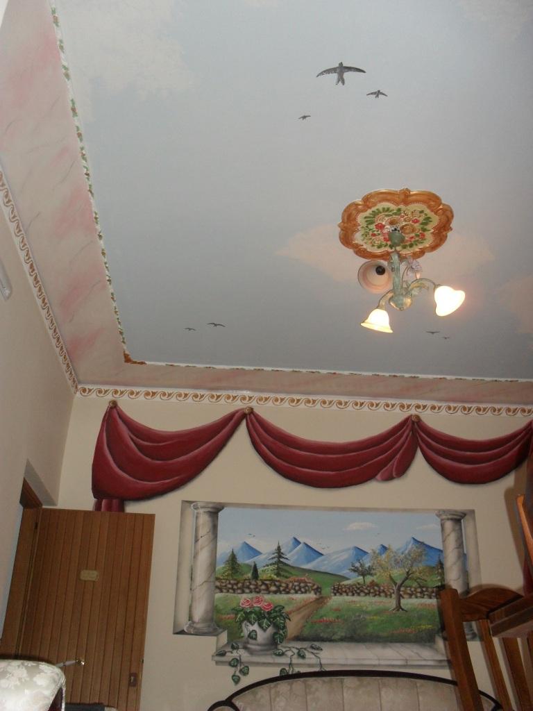 Pittura Stucco Veneziano Foto tenda trompe l'oeil lugano ticino svizzera mendrisio